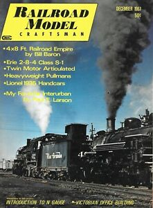 Railroad Model Craftsman Dec.1967 4X8 Layout Journal Building Interurban N Scale