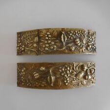 2 ornements ameublement cuivre bronze copper art nouveau déco France