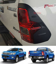For Toyota Hilux REVO 2015 - 16 SR5 WorkMate Matte Black Tail Lights Cover Trims