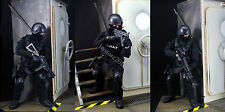 1/6 Soldier SWAT Black Uniform Military Army Suit 12'' Figure Set Model Toys