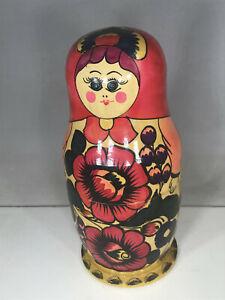 """Large 8"""" Matryoshka Nesting Doll (outside only)"""