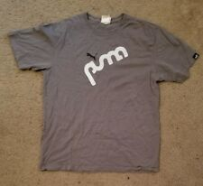Mens Puma Lifestyle Footwear Gray White Black Logo T Shirt Size Medium