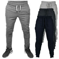 Mens Casual Sport Long Pants Tracksuit Fitness Workout Joggers Gym Trousers