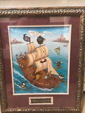 Walt Disney World 8 Pin Framed Limited Edition Set Pirates Life for Me ~ MINT