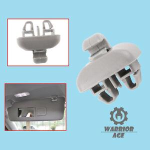 New For Audi TT  A6 S6 Grey Sun Visor Clip Hanger Hook Cover Retainer 4B0857562