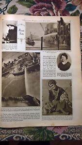 1924 Illustrierte 3 London Hafen Feuer Terwinselen / Bahnhof Chur eingetürzt