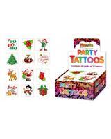 12 Assorted Xmas Tattoos Christmas Eve Box Stocking Party Bag Filler