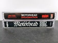 Motorhead Cassette Tapes Lot Of 2 orgasmatron words 3m