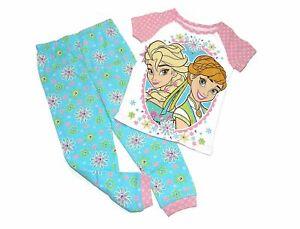 Frozen Elsa & Anna Toddler Little Girls 2-Piece Pajama Set, Size 4T