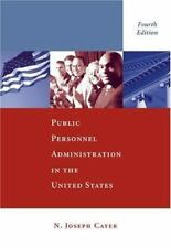 Public Personnel Administration by N. Joseph Cayer Paperback 4th Edition Book