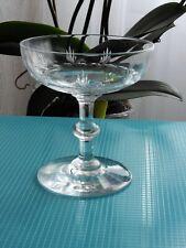BACCARAT St LOUIS ancienne coupe à champagne verre à vin en cristal taillé gravé