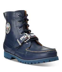 Polo Ralph Lauren Sport Men Combat Ranger Boots BO-CSL Leather