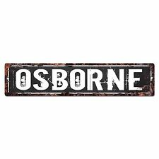 SLND0457 OSBORNE CAVE Street Chic Sign Home man cave Decor Gift