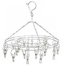 Buy 1 Get 1 Free Hanging 12 In Round Display Rack W 16 Metal Clips clothes New