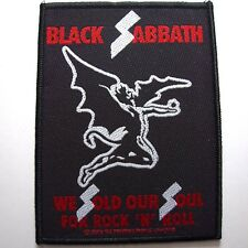 black sabbath we sold our soul for rock n roll  OFFICIAL WOVEN  PATCH