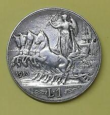 1 lira 1913 V.E.III QUADRIGA BRIOSA in qBb