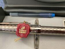 Parker Sonnet Fountain Pen Silver Plated- Made in France 18k nib. Original box
