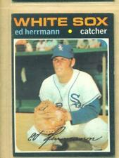 1971 TOPPS  # 169 ED HERRMANN WHITE SOXS EX/NM+