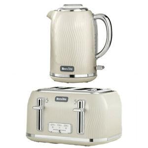 Kettle Slice Toaster Set Kitchen Sale Buy Breville Cream Deal Cheap Gift Kitchen