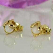Markenlose Echter Edelsteine-Ohrschmuck aus Gelbgold mit Opal für Damen