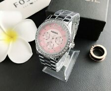 Women's watch Stainless steel Fossles Crystal Wristwatch