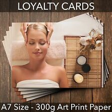 Loyalty Cards - Pack of 25 - for massage beauty salon, therapists,hairdressers
