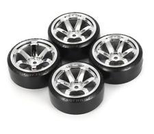 4Pcs RC Drifting Car Tire Set Hard Plastic Hard Tyre Set for Traxxas HSP Tamiya