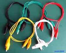 2x Cable con doble pinza cocodrilo 50cm - ALLIGATOR WIRE CLIPS