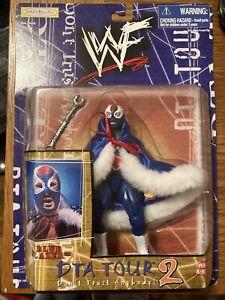 The Blue Blazer Action Figure WWF DTA Tour 2 Jakks 1999 WWE Wrestling Owen Hart