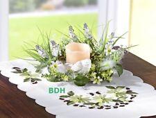 Tischkranz Tischgesteck mit LED Echtwachs Kerze Tischdeko 22 cm Deko Kranz NEU