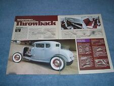 """1930 Ford Model A 5-Window Coupe Highboy Hot Rod Article """"Throwback"""""""