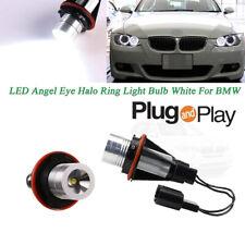 2X For BMW X5 M5 1 5 6 7 Series Xenon White LED Angel Eye Halo Ring Light Bulbs