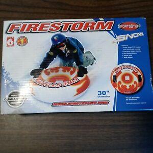 "Firestorm Snow Tube Sledding Tubbing 30"" Heavy Gauge 1 Rider Over Sized Handles"