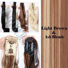 US Claw Clip In Ponytail Hair Extensions Thick Brown Blonde Black as Human AM11