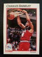 Charles Barkley 1990-91 NBA HOOPS ~76ers~ Insert #156