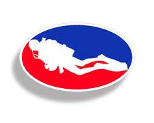 Major League Scuba Diving Oval Sticker Diver Down Window Bumper Car Truck Laptop