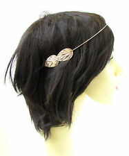 Light Rose Gold Leaf Headband Headpiece Cuff Grecian Vine Hair Laurel Roman 958