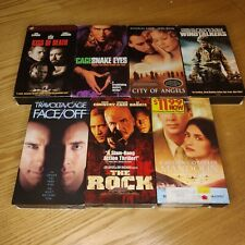 Nicholas Cage Vhs Lot Snake Eyes Face Off The Rock Mandolin Windtalkers 90s Ex