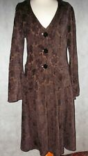 Beautiful OUT OF XILE long riding coat fitted flared size 1 UK 8 10