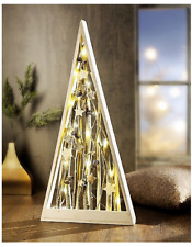 Deko Baum Tannenbaum Holz mit LED Beleuchtung Weihnachtsdeko Weihnachtsbaum