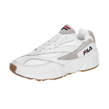 FILA 94 Low Mens White Leather   Textile Trainers - 11 UK 279ebebe576