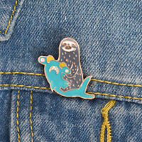 EG_ Charm Hammerhead Shark Sloth Enamel Brooch Pin Lapel Denim Bag Badge Jewelry