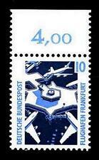 BUND SWK  10 Pf. **, Mi. 1347 (Flughafen Frankfurt) - mit Oberrand