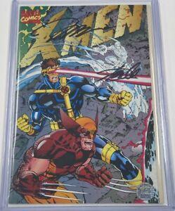 Marvel X-Men #1 Gatefold Variant Signed Stan Lee & Jim Lee w/COA MCU Wolverine