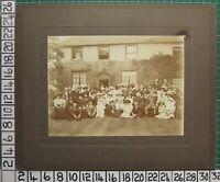 C1880 Vittoriano Antico Fotografia Battesimo Esteso Famiglia Gruppo