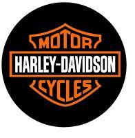 KLEINER HARLEY DAVIDSON AUFKLEBER MOTORRAD AUTOAUFKLEBER SCHWARZ STICKER RUND !!