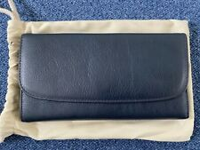 Timothy Oulton Rhodes Travel Leather Navy Blue XL Wallet Included With Dustbag