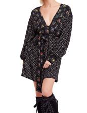 People Womens 1174 Beige Patchwork Sweater Long Sleeve Dress Sz XS