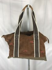 RARE Vintage LL BEAN DUFFLE BAG Foxes Trim Carry On Free US Shipping