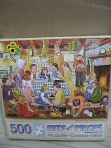 Bits and Pieces 500 piece jigsaw puzzle- USED-MISS PRINN'S PRAIRE SCHOOL